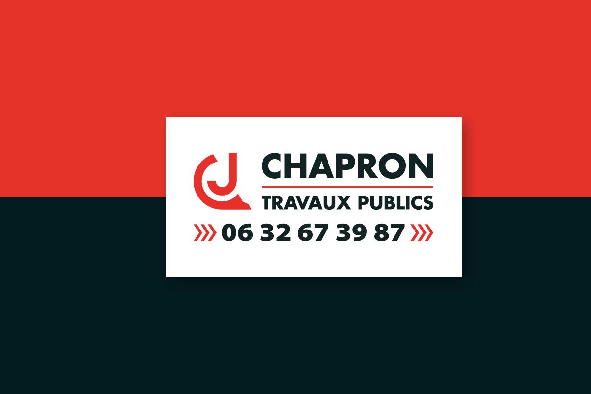 chapron travaux public logo code graphique