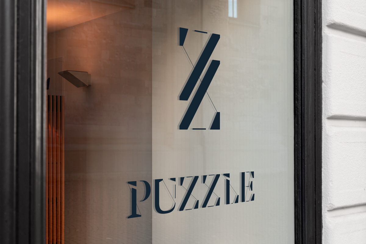 puzzle sas Lyon logo typographie charte graphique immobilier