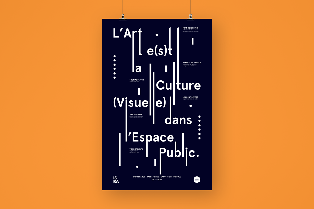 l'art e(s)t la culture visuelle dans l'espace public affiche typographie ISBA institut supérieur beaux arts Besançon bien urbain