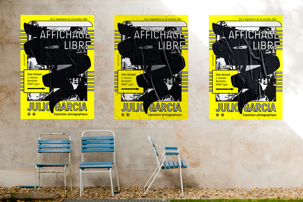 affichage libre affiche julio garcia photographe lyon poster rue