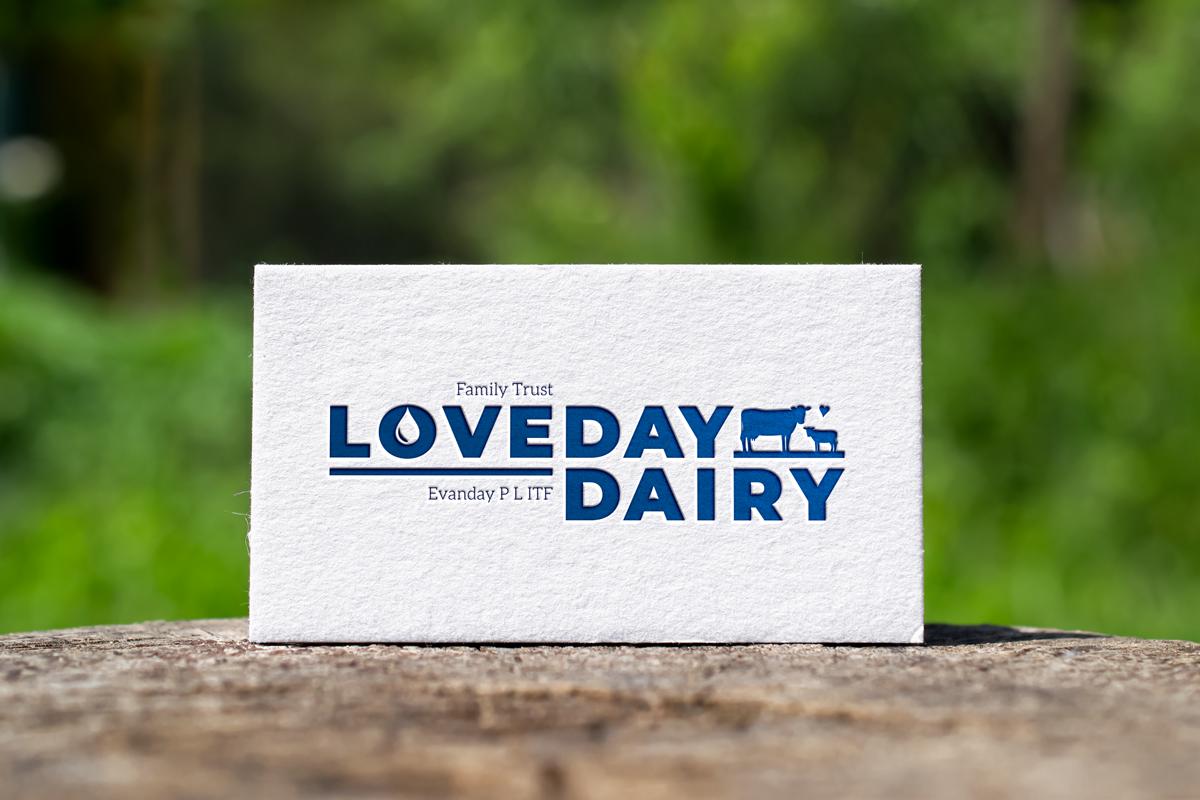 carte de visite ferme laitière Australie