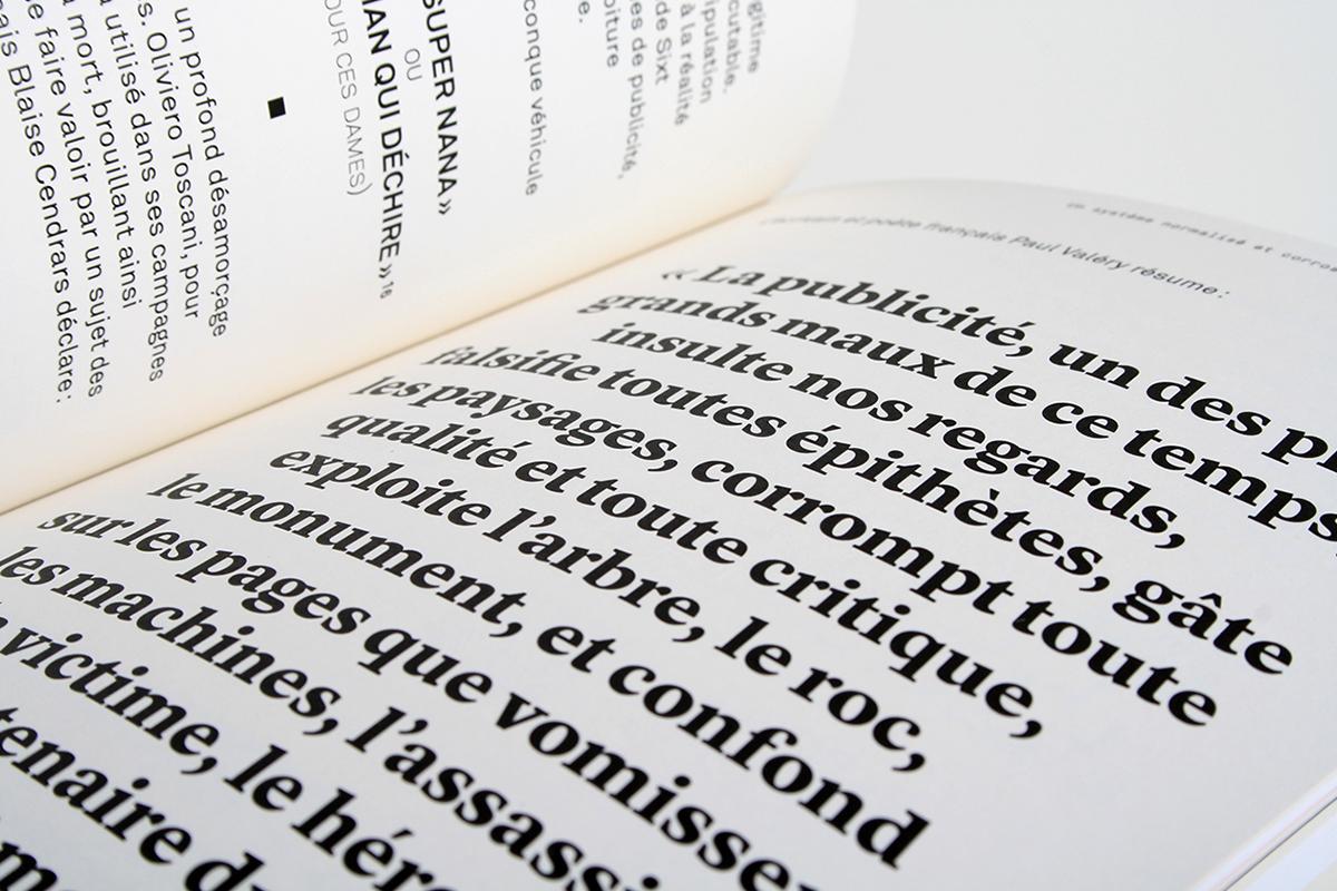 la société du regard édition livre graphisme France publicité typographie mise en page mémoire Master ISBA