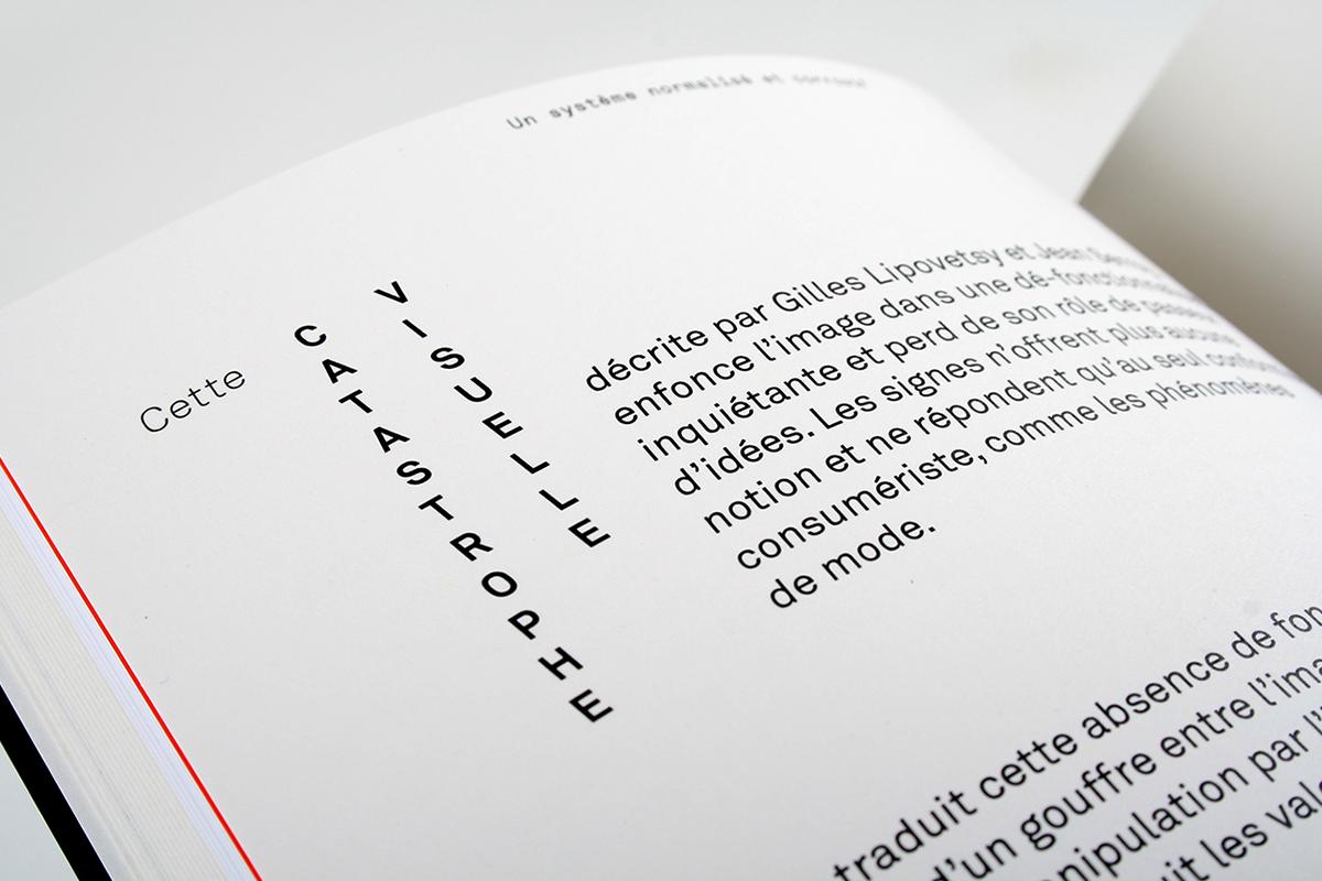 édition livre graphisme France publicité typographie mise en page mémoire Master ISBA