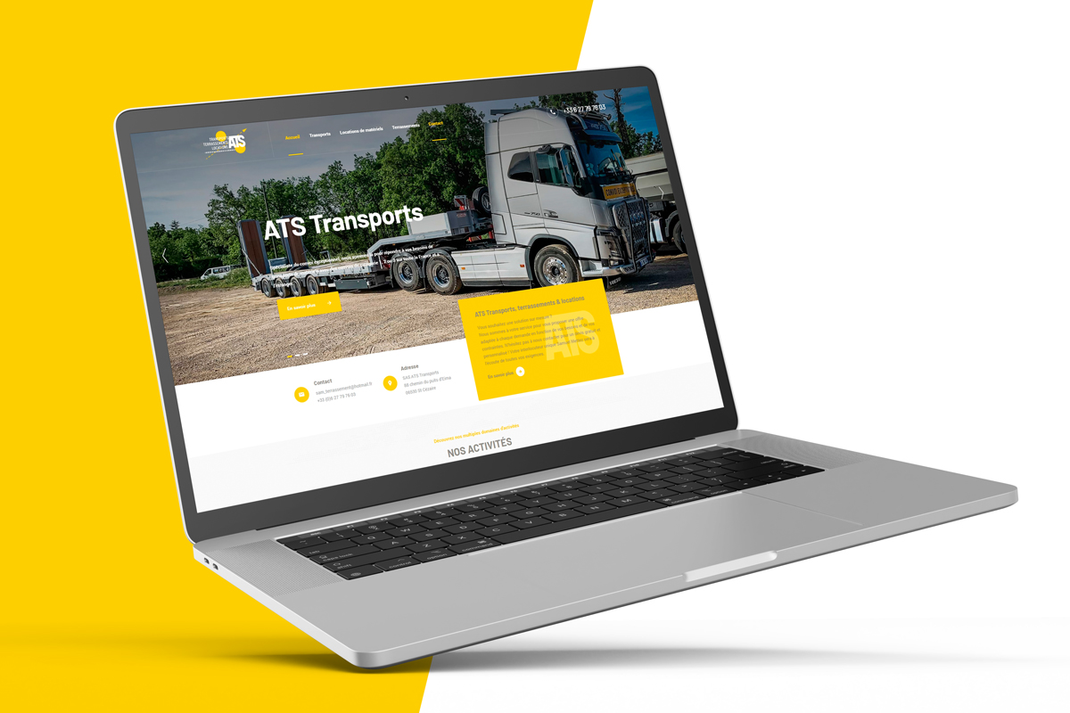 ats transports terrassements locations site internet