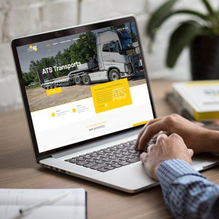 ats transports terrassements locations site internet