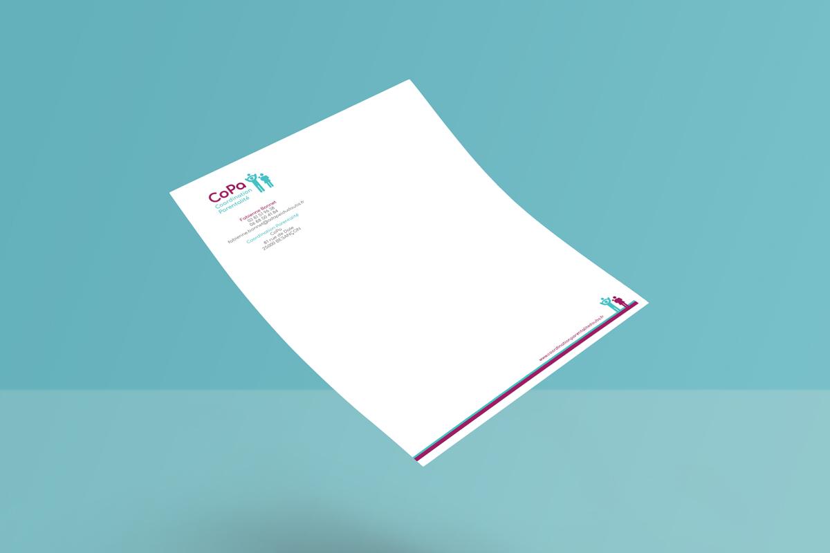 papier entête logo identité visuel roll up dépliant code graphique