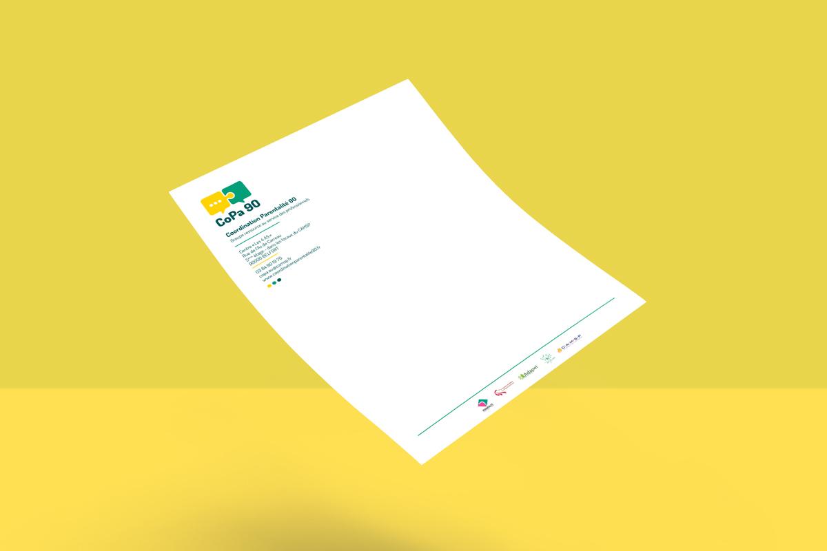code graphique logo dépliant roll up communication