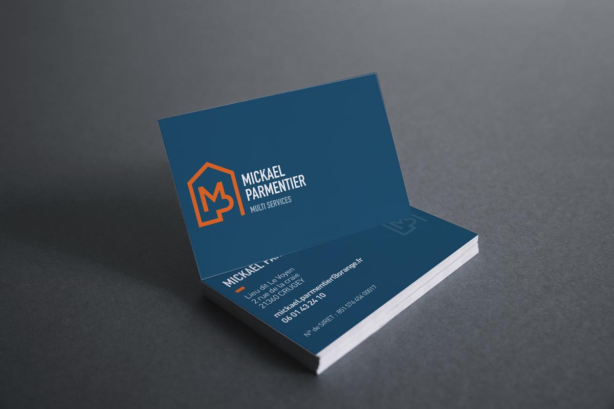 mickael parmentier logo carte de visite code graphique multi services