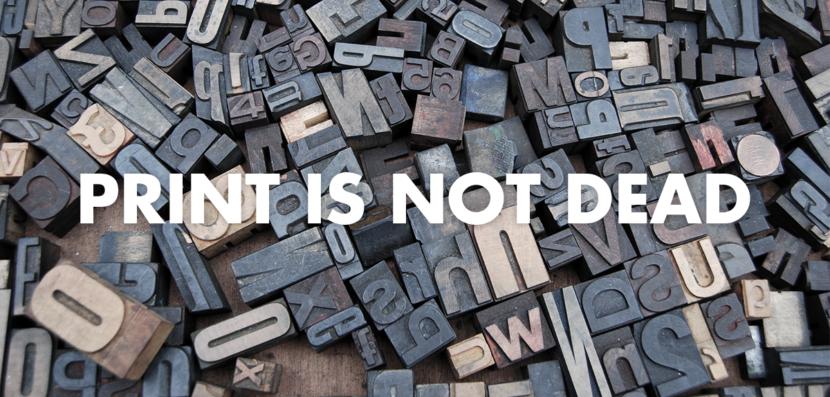image blog caractère typographique print is not dead