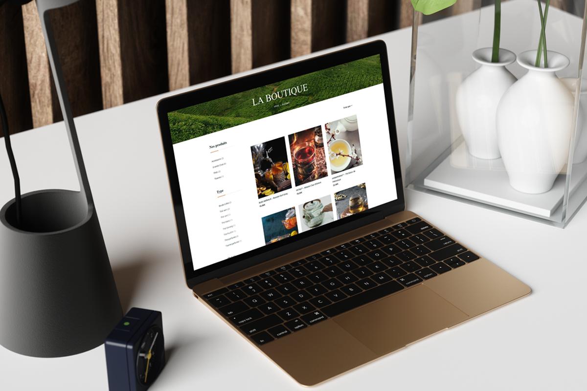 YPSTÉ maison de thé site internet